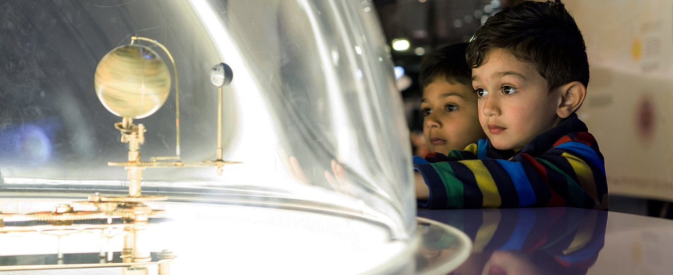 Solar system bought to life by children for science centre.