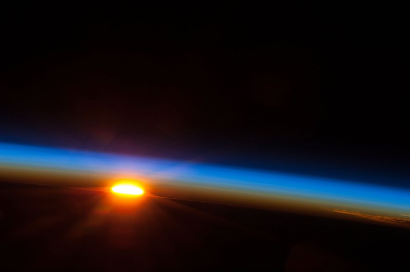 On the ISS the sun rises and sets 15 or 16 times in 24 hours.