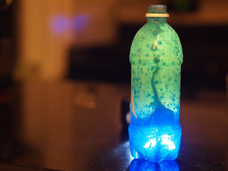 Watch liquids in motion by making your own Destination Space lava lamp.