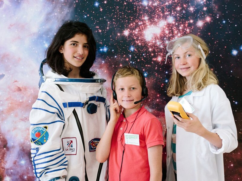 Children take on roles of space scientist, astronaut and flight director in the Destination Space Crew.