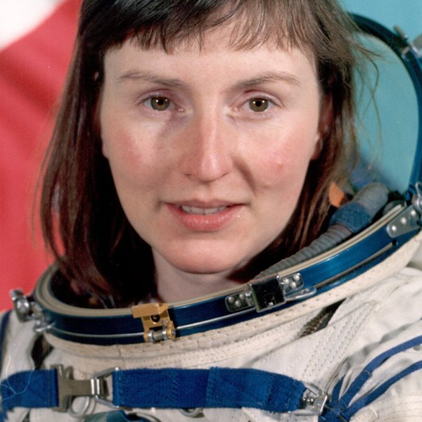 British astronaut Helen Sharman in space suit.